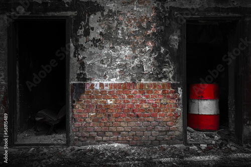doors in a desolate industrial building