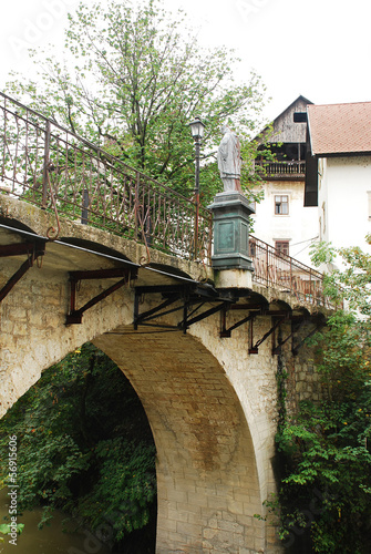 Capuchin's Bridge in Skofja Loka