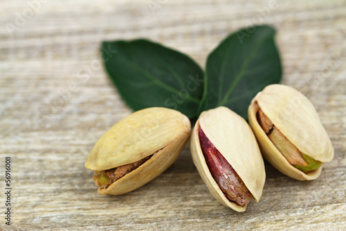 Pistachio nuts, close up