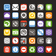web color interface icons collection