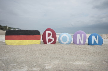 Bonn, souvenir on colourful stones