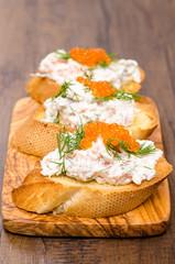Antipasto Crostino mit Kaviar