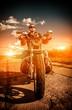 Fototapeten,biker,motorrad,graffiti,mann