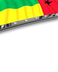 Designelement Flagge Guinea Bissau