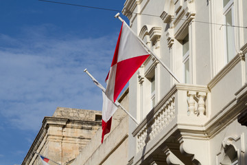 Malta Flag in Blu Sky