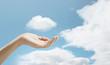 hand and sky