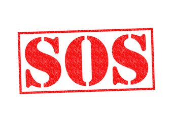 SOS Rubber Stamp