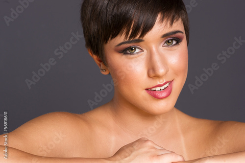 Vibrant Intimate Portrait Head Shot Young Attractive Female