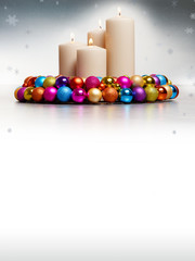 Voucher for christmas with Advent wreath
