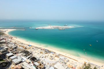 The view on construction of the new Dubai Eye
