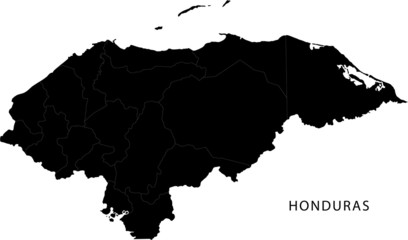 Black Honduras map