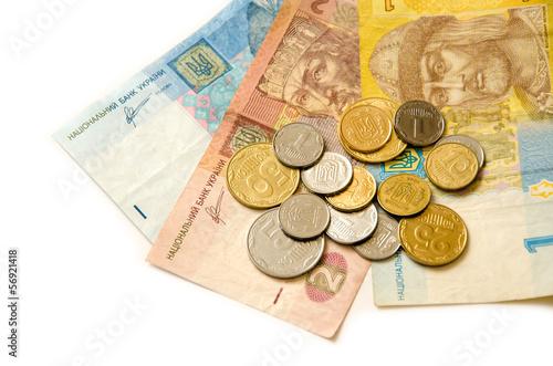 деньги на белом фоне