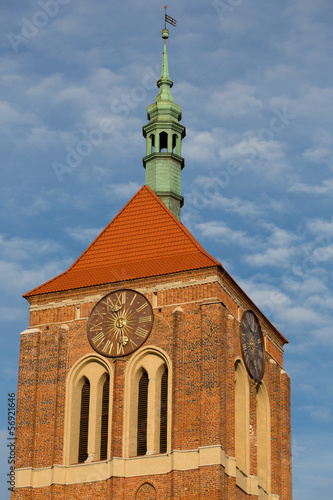 Classical church in old town of Gdansk