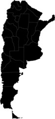 Black Argentina map