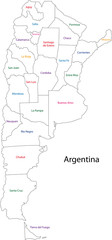 Outline Argentina map