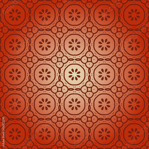 seamless ornamental abstract pattern