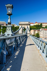 Lanchid or Chain Bridge in Budapest