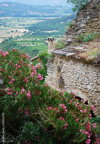 Countryside landscape view from Gordes village, Provence, France