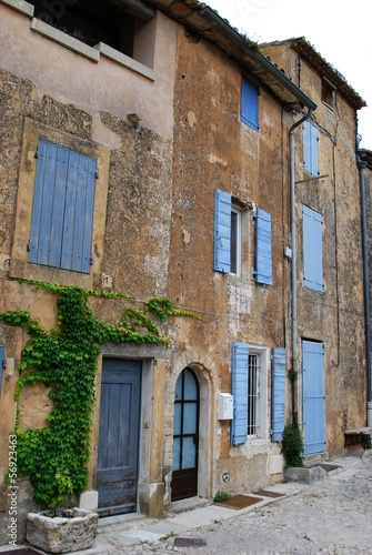 Old stone houses in Gordes village, Vaucluse, Provence, France