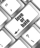 love or hate relationships communication computer keyboard key