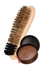 Shoe brush and polish