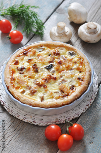 quiche pie with chicken