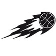 Basketball Fire Ball Logo