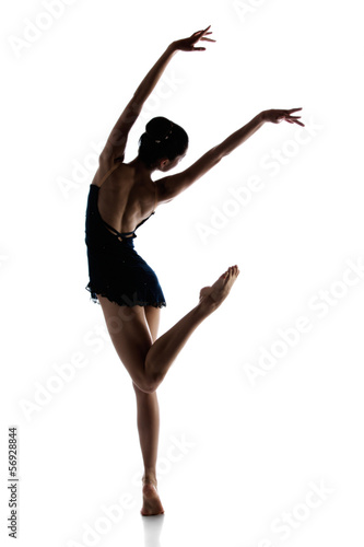 Póster Bailarina de ballet femenino