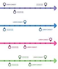 Infographic design template. Idea to display timeline with arrow