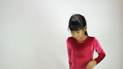 Cute Asian Girl Does Interpretive Dance