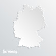 Abstract icon map of  Germany on a gray background