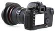 appareil photo reflex numérique avec écran blanc