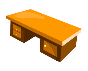 office desk isolated illustration