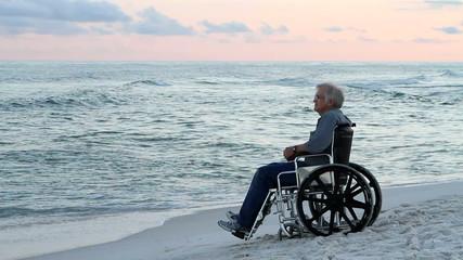 Senior Wheelchair Beach