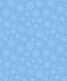 Blue pattern of snowflakes