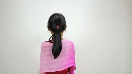 Little Asian Girl Does A Creative Dance