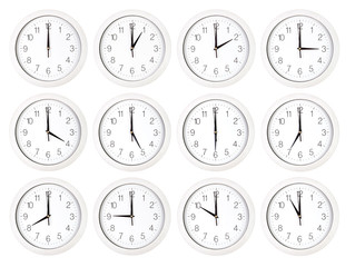 Set of clock faces
