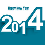 Happy New Year 2014 stylish colorful design