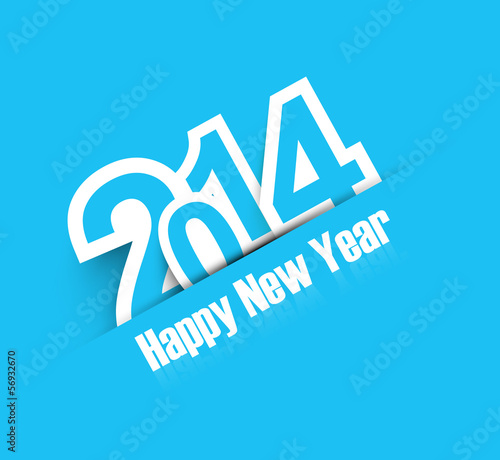 2014 blue colorful celebration new year design vector