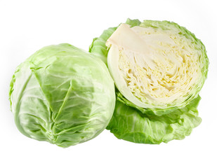 Cabbage and a half isolated