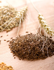 Caraway seeds and ears