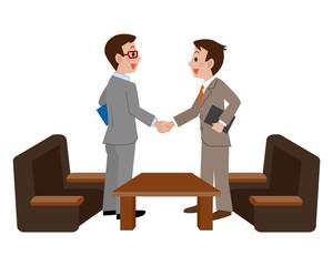 握手をするビジネスマン