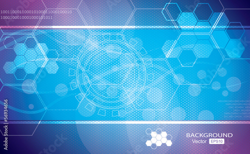 Blue abstract vector background graphics, medical illustrations.
