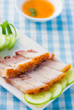 chinese roast pork belly with chilli sauce