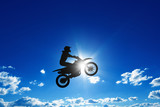Fototapety Jumping motorcycle rider