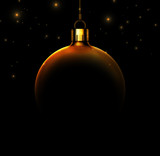 Christmas ball on black background - 56937693