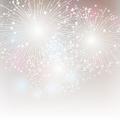 Starry fireworks background