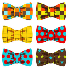 Bow tie set - vector illustration
