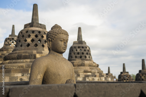 borobudur temple at sunrise.
