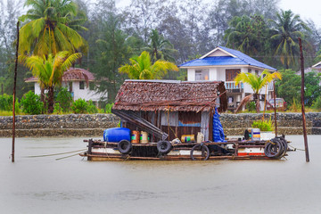 House on the water at Koh Kho Khao island in Thailand